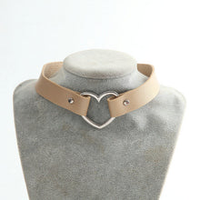 Leather Heart Collar Choker Necklace fine jewelry