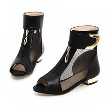 Loop And Metal Decoration Design Solid Thick Heel Shoes