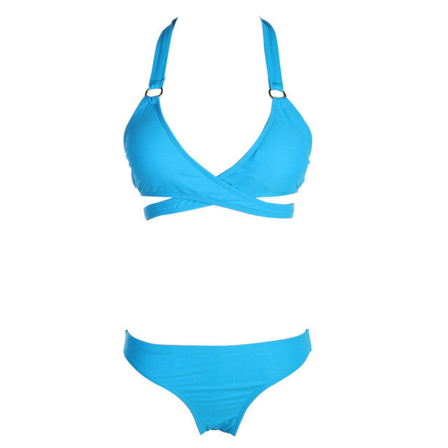 Halter Bikini Women Swimsuits Brazilian Push Up Bikini Set Two Piece Bathing Suits Swimwear