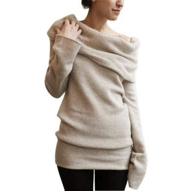 Long Sweater Long Sleeve Versatile/or Hooded Pullover