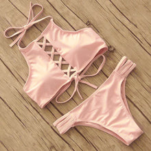 Women Bikini Set Halter Cross Push Up Sexy Swimwear Swimsuit 2017 Summer Brazilian Bikini Style