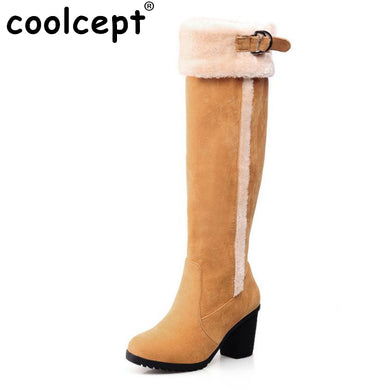 over knee boots fashion snow warm winter botas masculina riding boot cotton
