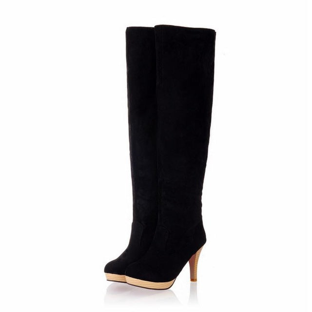 Over Knee Boots Women Platform Knight Long Boot Warm Winter Boot