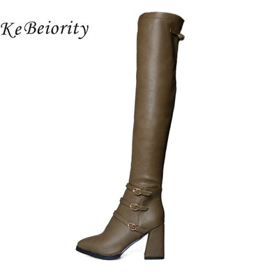 Women Long Boots Over the Knee Thigh High Boots for Women Thick High Heel Boots