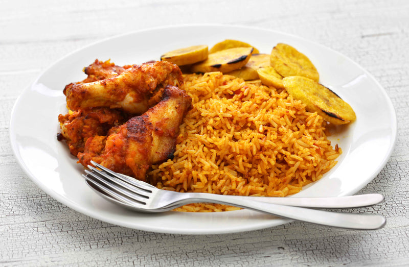 Ghanaian Jollof Rice (similar to Jambalaya)