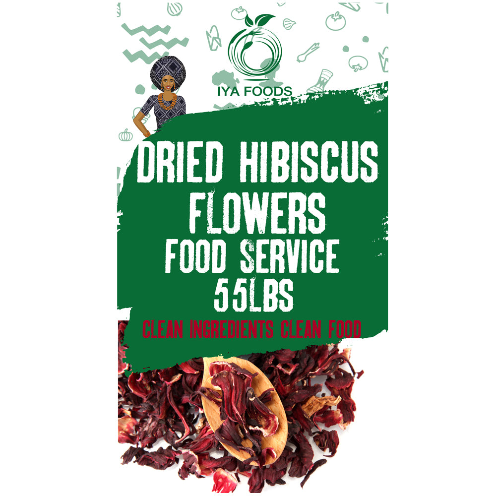Gluten Free Hibiscus Flowers, Kosher Certified (Hibiscus Sabdariffa Flowers ,Dry Roselle) Non GMO, NO Preservative, Buy Bulk & Save - iyafoods