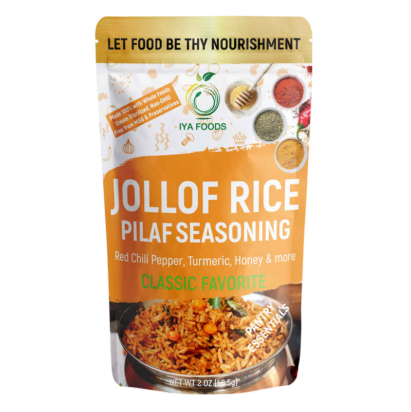 Jollof Rice Seasoning 2-5 oz pack, No MSG, No Preservatives