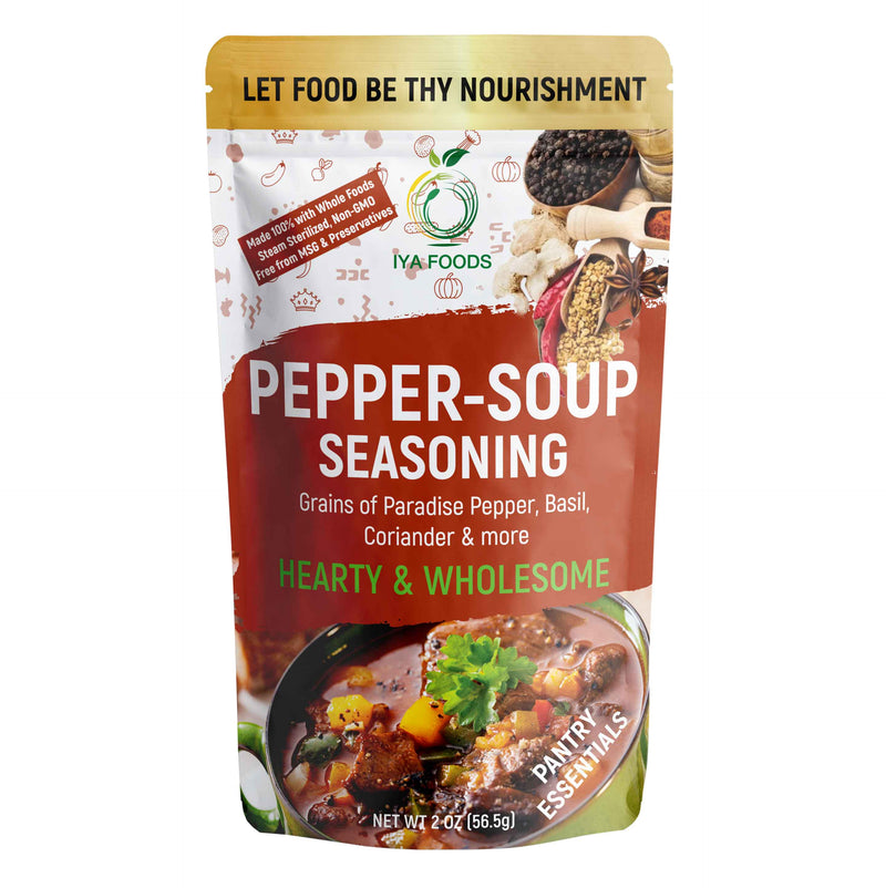 Authentic Pepper Soup Seasoning 2-5 oz Pack, No MSG, No Preservatives - iyafoods