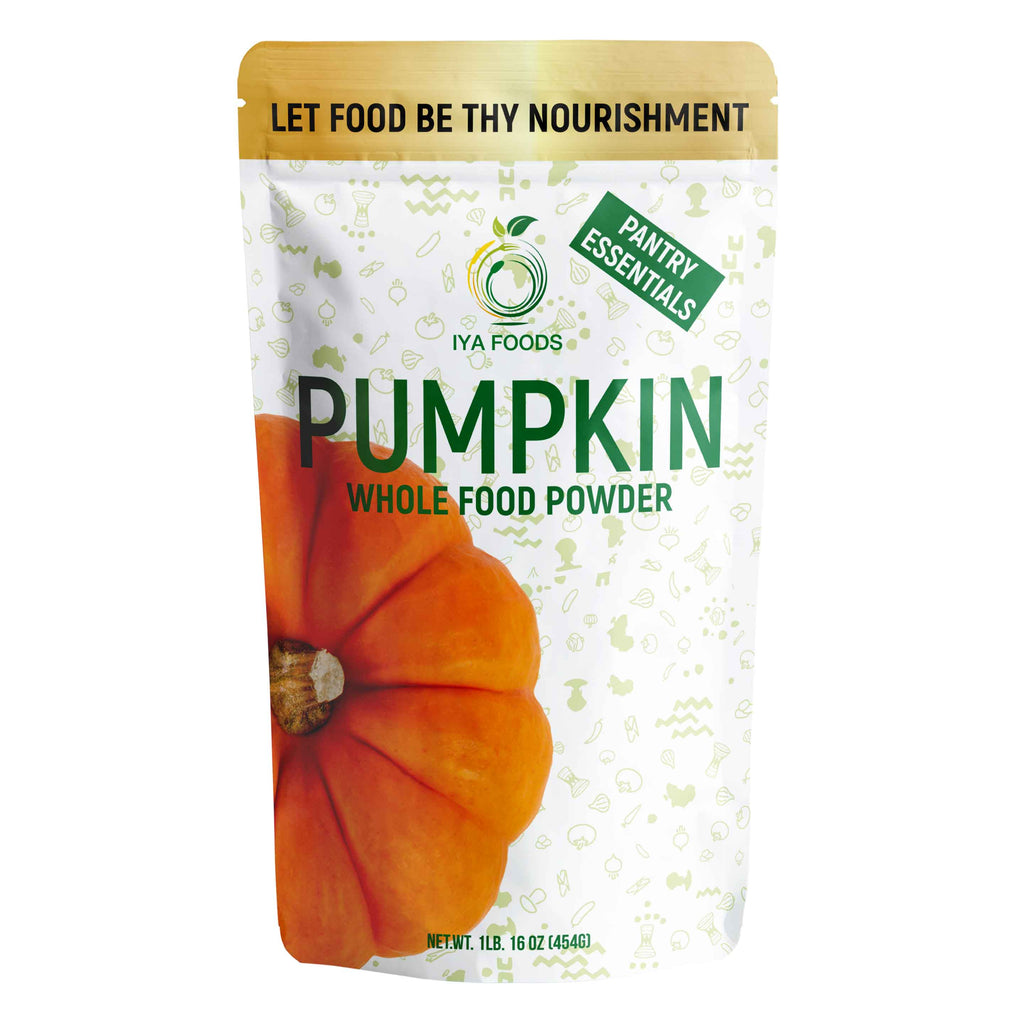 Pumpkin Whole Food Powder 1LB, Real Ingredient