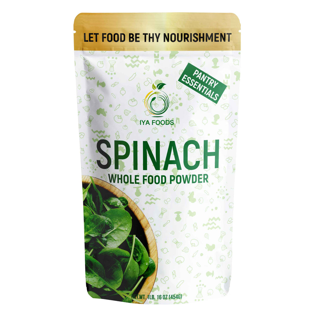 Spinach Whole Food Powder 1LB, Real Ingredient - iyafoods
