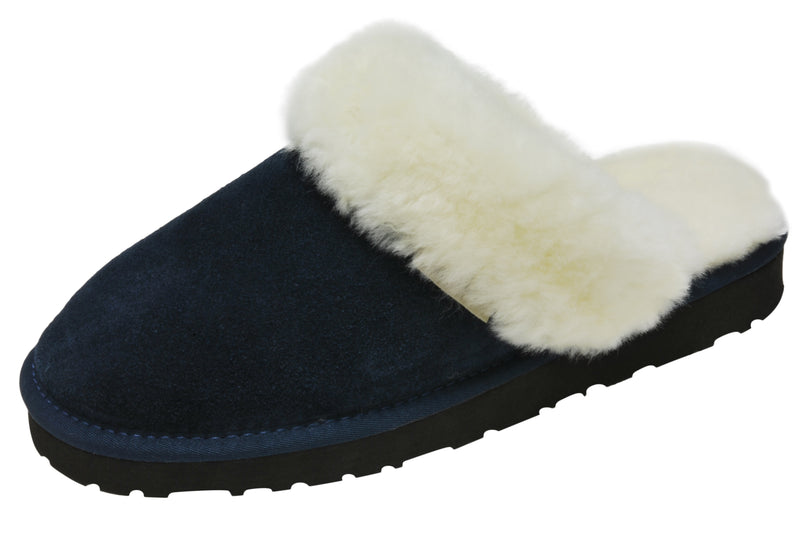 SLPR Women's Sheepskin Greenland Slipper Navy