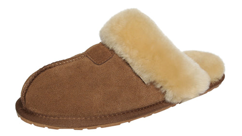 Women's Sheepskin Tahoe Slippers Camel