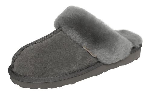 SLPR Women's Sheepskin Fernie Slipper Grey