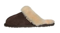 SLPR Women's Sheepskin Tahoe Slippers Chocolate