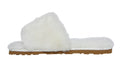 SLPR Women's Sheepskin Slide Slippers White
