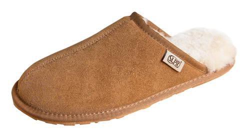 SLPR Men's Sheepskin Summit Slippers Camel