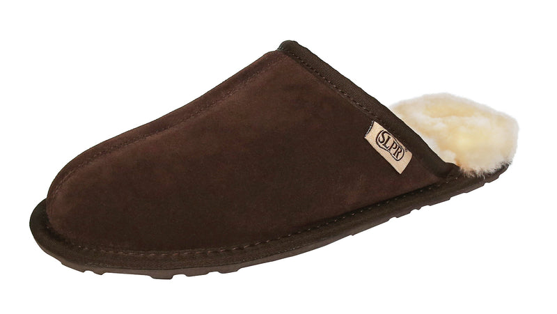 SLPR Men's Sheepskin Summit Slippers Chocolate