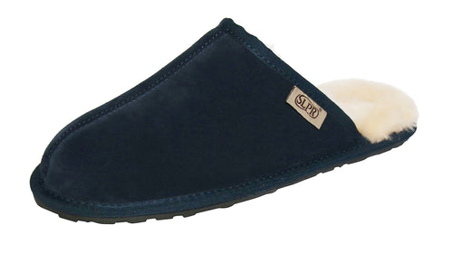 SLPR Men's Sheepskin Summit Slippers Navy
