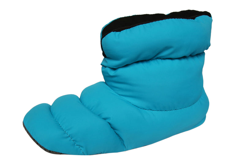 SLPR Unisex Warm Cozy Indoor Mid Bootie Slippers With Non-Slip Sole - Blue/Black