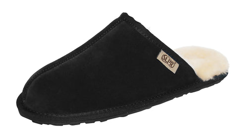SLPR Men's Sheepskin Summit Slippers Black