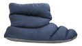 SLPR Unisex Warm Cozy Indoor Mid Bootie Slippers With Non-Slip Sole - Navy/Grey