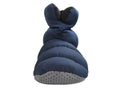 SLPR Unisex Warm Cozy Indoor Mid Bootie Slippers With Non-Slip Sole - Navy/Black