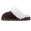 SLPR Women's Sheepskin Fernie Slipper Chocolate