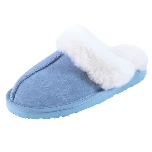 SLPR Women's Sheepskin Fernie Slipper Blue