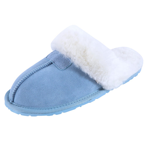 SLPR Women's Sheepskin Tahoe Slippers Blue