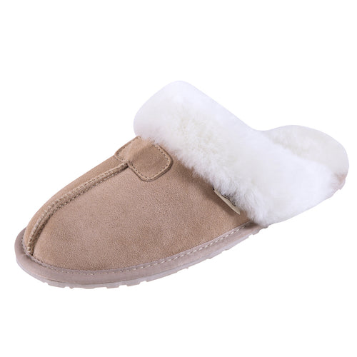 SLPR Women's Sheepskin Tahoe Slippers Sand
