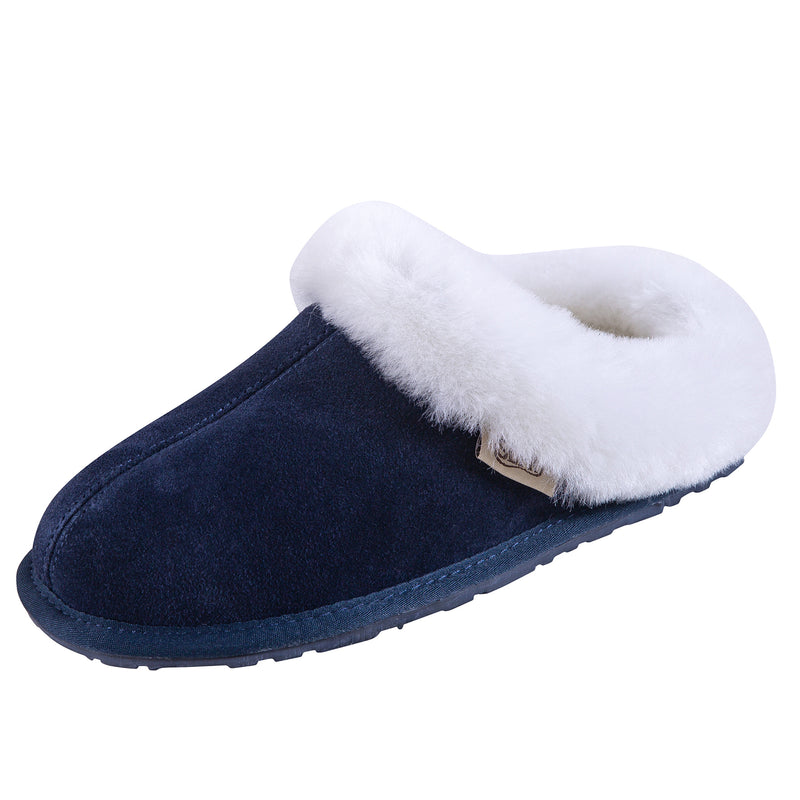 SLPR Women's Sheepskin Pinecrest Slippers Navy