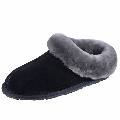 SLPR Women's Sheepskin Pinecrest Slippers Black