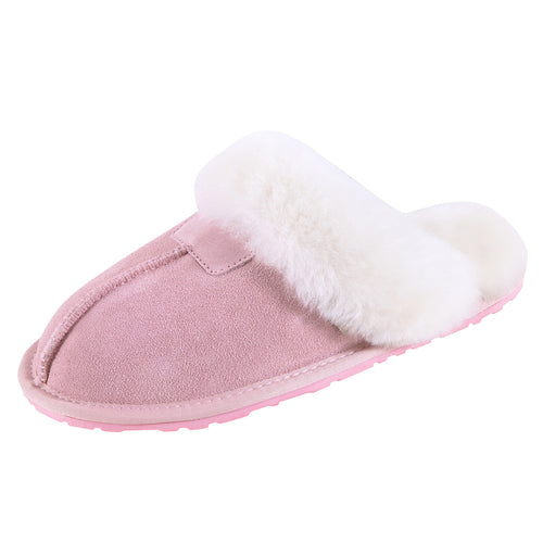 SLPR Women's Sheepskin Tahoe Slippers Pink