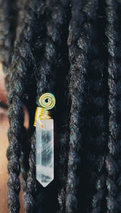 Clear Quartz Loc Jewel