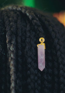 Rose Quartz Loc Jewel