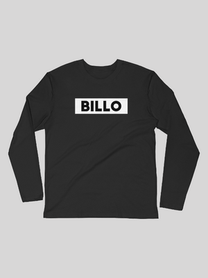 WHITE BILLO ON BLACK LONG SLEEVE