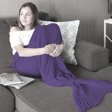 Adult Mermaid Tail Blanket in Amethyst Purple