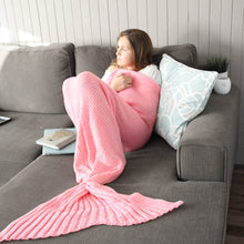 Adult Mermaid Tail Blanket in Flamingo Pink - Very Low in Stock