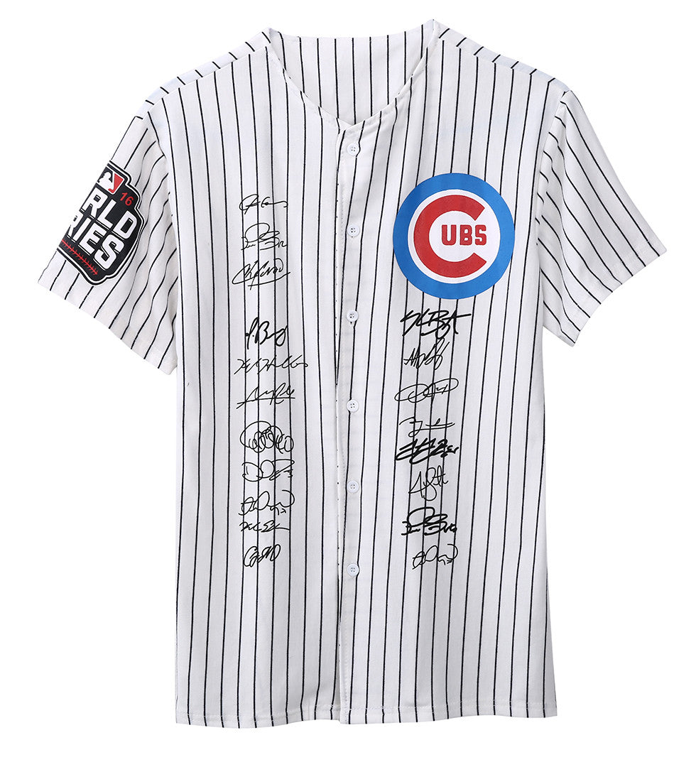 High Quality Men's Jersey Chicago Cubs 2016 World Series Signs Collection