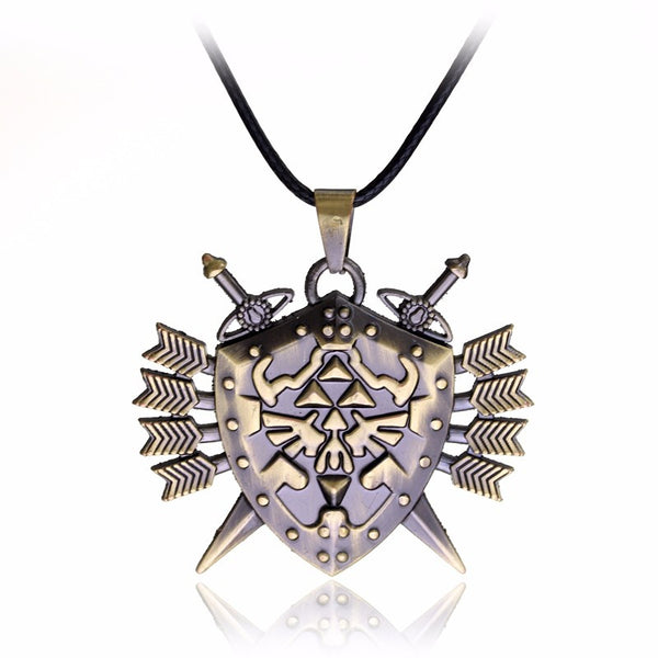 Zelda Triforce Vintage Shield Skyward Sword Rope Chain