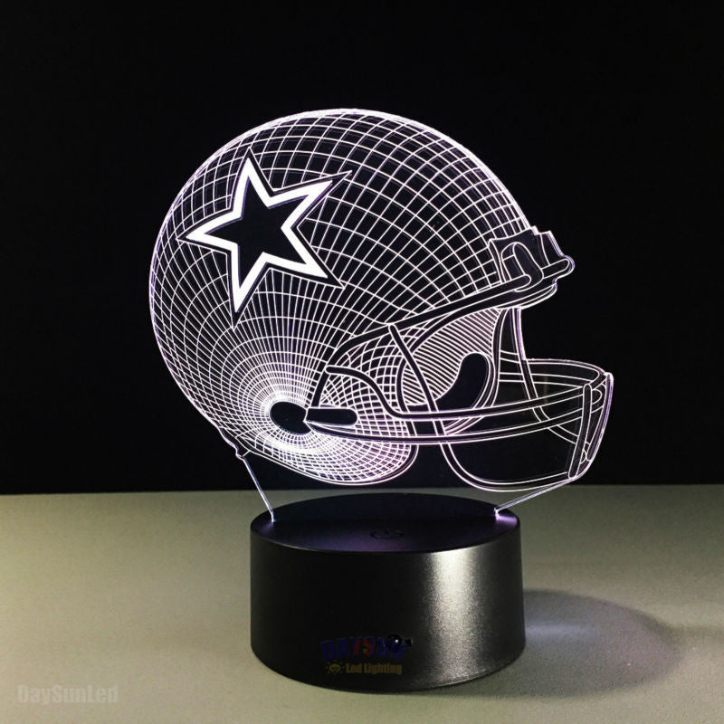 NFL 3D Light Touch LED Lamp 7 Colors Dallas Cowboys