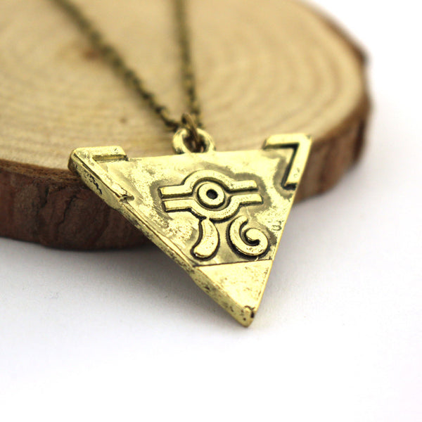 The Legend Of Zelda Antique Gold Triforce/Triangle Pendant Necklace