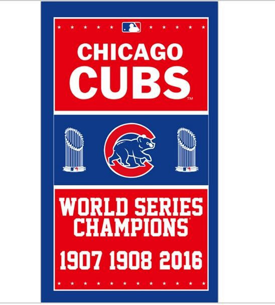2016 World Series Champions Chicago Cubs Flag  with 2 metal Grommets 3ft*5ft