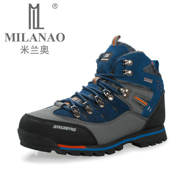 Waterproof Genuine Leather Outdoor Boots Hiking Shoes New Autumn Winter Mens Sport Shoes Trekking Mountain Climbing Suede Boots