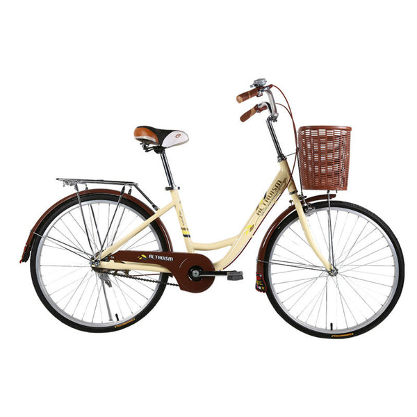 ALTRUISM Q3 City Road Bike for Female 24 Inch Vintage Bicycle for Women Tire with Reflective Rear Drum Brake Bikes Bicycles