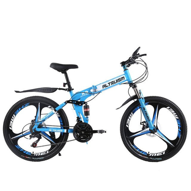 ALTRUISM X9 Pro Folding Bike Road Bicycles Steel 24 Speed 26 Inch Mountain Bike For Mens Womens Bikes Bicycle