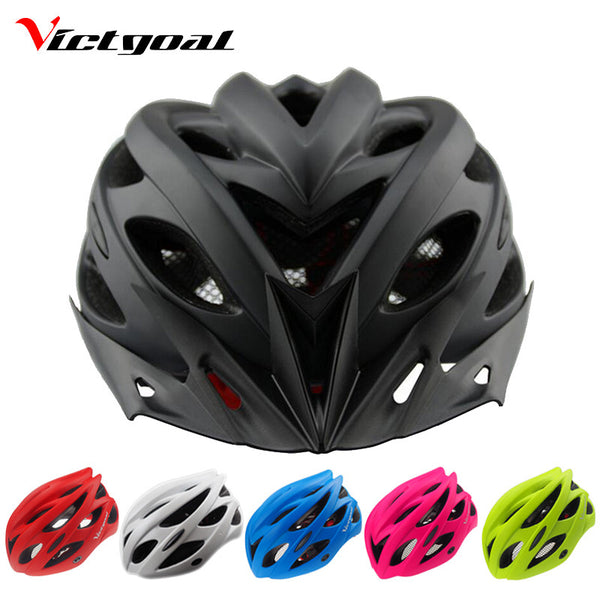 VICTGOAL Matte Black Bicycle Helmets Men Women Helmet Back Light Mountain Road Bike Integrally Molded Cycling Helmets K1040