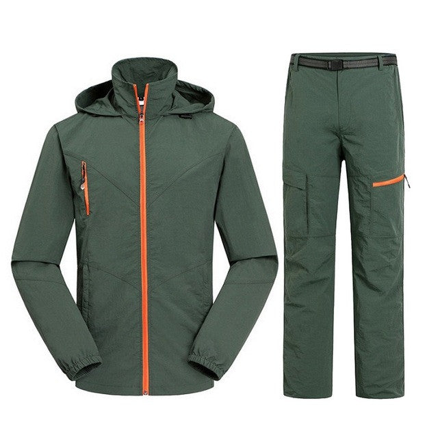 Men&Women Quick Dry Breathable Jackets Pants Outdoor Sports Suit Brand Clothing Trekking Hiking Male Female Tracksuit Sets MA023