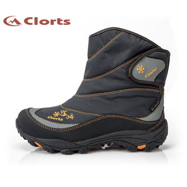 New Clorts Women Fur Hiking Boots Wear-Resistant Outdoor Snow Boots Non-Slip Winter Sport Shoes SNBT-203A/B