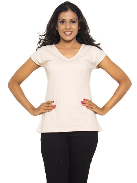 V-Neck Tee In Whitecap Grey - Tuuda